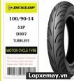 Lốp Dunlop 100/90-14 D307 cho Vario,Click,PCX,SH Mode,...
