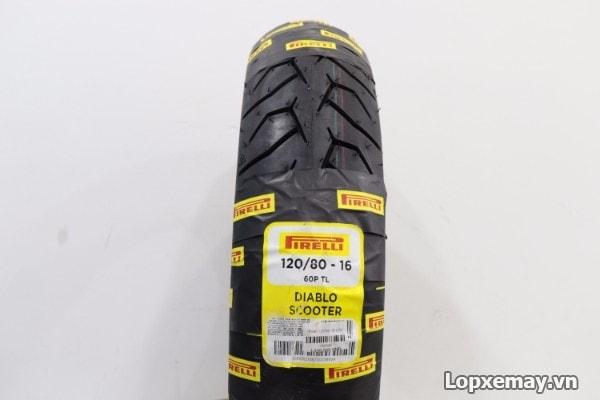 Lốp xe máy pirelli 12080-16 diablo scooter cho sh gz150 - 1