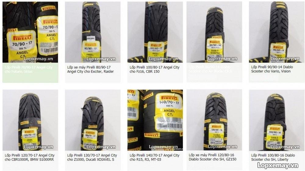 Bán lốp xe máy pirelli tại quận bình thạnh hcm - 1