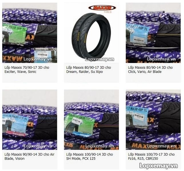 Bán lốp xe máy maxxis tại quận 12 hcm - 1