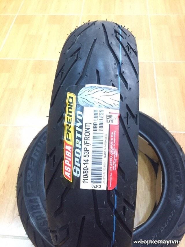 Lốp aspira sportivo 11080-14 cho tfx 150 cbr 150 - 1