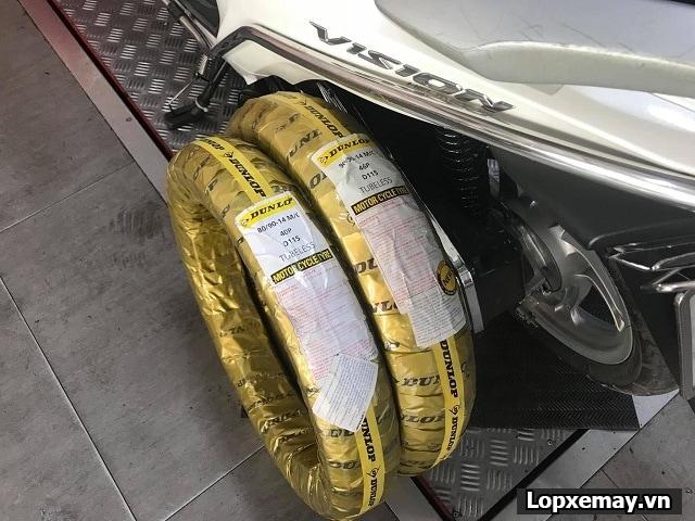Vision lên cặp lốp dunlop có phù hợp không giá bao nhiêu - 2