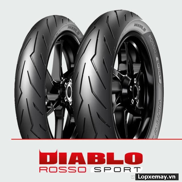 Lốp xe máy pirelli 12070-17 diablo rosso sport cho winner 150 exciter150 tfx cbr150 - 1