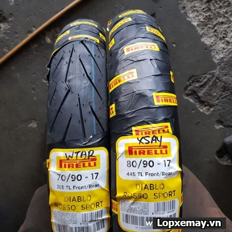 Lốp xe máy pirelli 8090-17 diablo rosso sport cho exciter150 wavedream future - 1