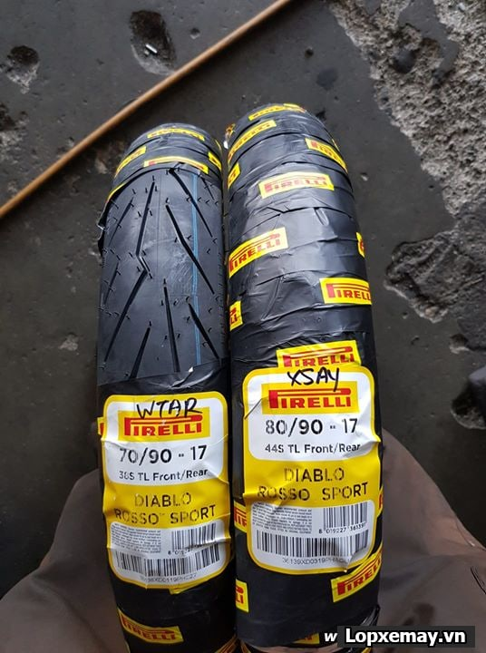 Lốp xe máy pirelli 7090-17 diablo rosso sport cho winner wavedream future - 1