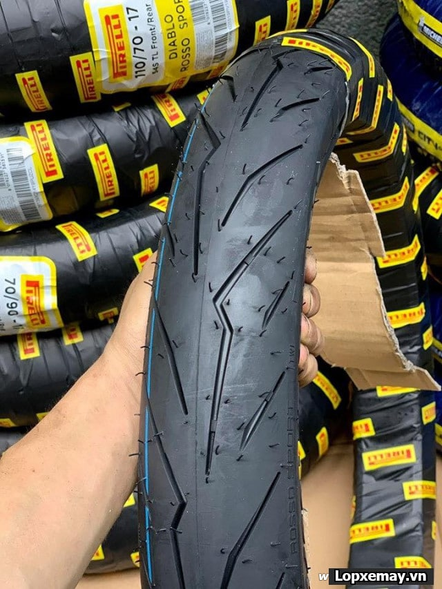 Lốp pirelli 10080-17 diablo rosso sport cho winner xexciterraider - 1