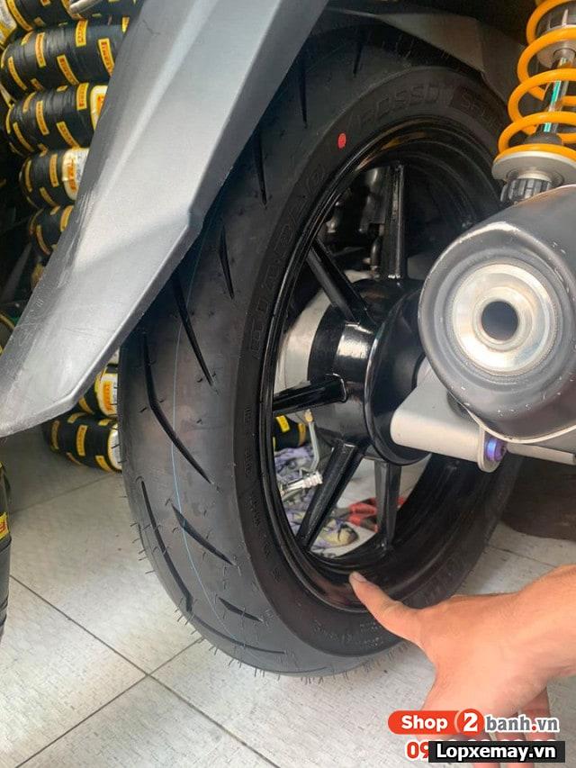 Lốp pirelli 9090-14 diablo rosso sport cho air blade click - 2