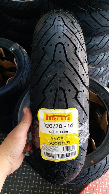 Lốp xe máy pirelli 12070-14 angel scooter cho pcx nvx - 1