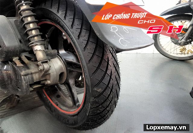 Lốp chống trượt cho xe sh đi trong mùa mưa an toàn - 2