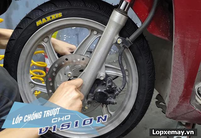 Lốp chống trượt cho xe vision đi trong mùa mưa an toàn - 2