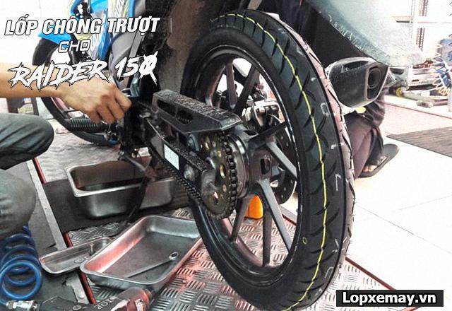 Lốp chống trượt cho xe raider r150 đi an toàn trong mùa mưa - 4