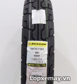 Lốp Dunlop 120/70-17 K505F cho Z800, CBR1000