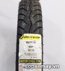 Lốp Dunlop 80/90-14 D115 cho Click 125, Vision