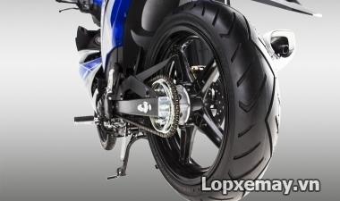 Exciter 150 độ lốp size lớn nhất là bao nhiêu?