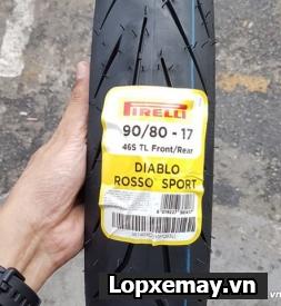Lốp Pirelli 90/80-17 Diablo Rosso Sport cho Exciter, Wave/Dream, Future,...