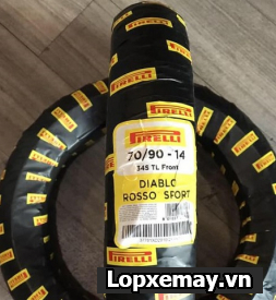 Lốp Pirelli 70/90-14 Diablo Rosso Sport cho Air Blade, Click.