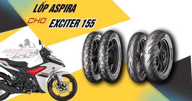 Lốp Aspira cho Exciter 155 có tốt không? Thay loại nào phù hợp?